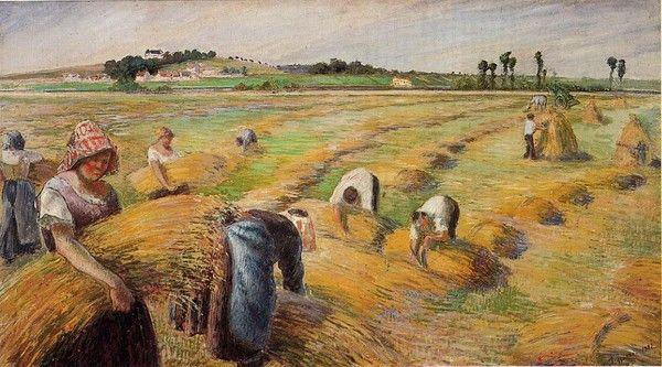 Risultati immagini per Camille Pissarro ''La moisson''